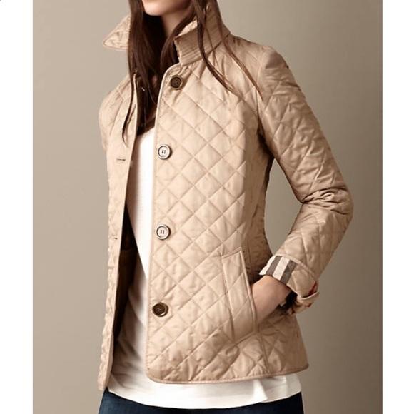 34c33c9e3715 Burberry Jackets & Coats | Quilted Jacket Womens Beige | Poshmark
